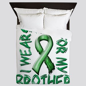 I Wear Green for my Brother Queen Duvet